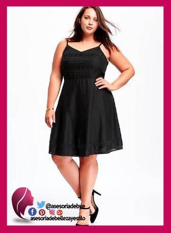 Vestido negro para gorditas