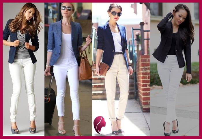 Como combinar un pantalon blanco para mujer