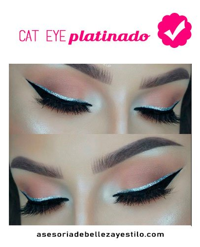maquillaje para una fiesta de noche cat eye plantinado - ojos