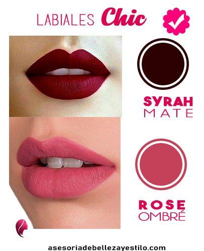 Maquillaje para una fiesta de noche Labial syrah mate rose ombré