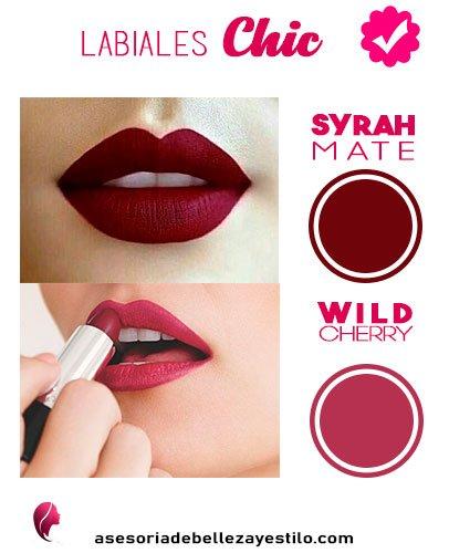 Maquillaje para una fiesta de noche - labios syrah mate y wild cherry