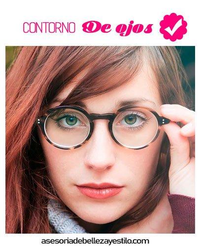 Maquillaje para chicas que usan lente corrector contorno de ojos