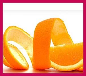 como aclarar la cara con cascara de naranja