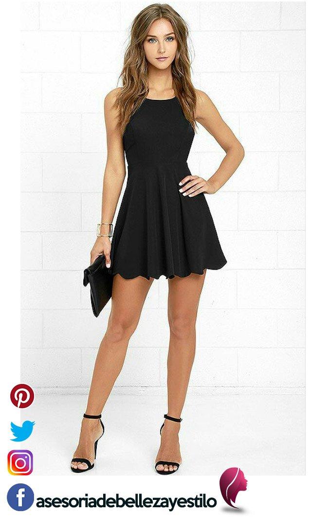 vestido negro mejor outfit elegante