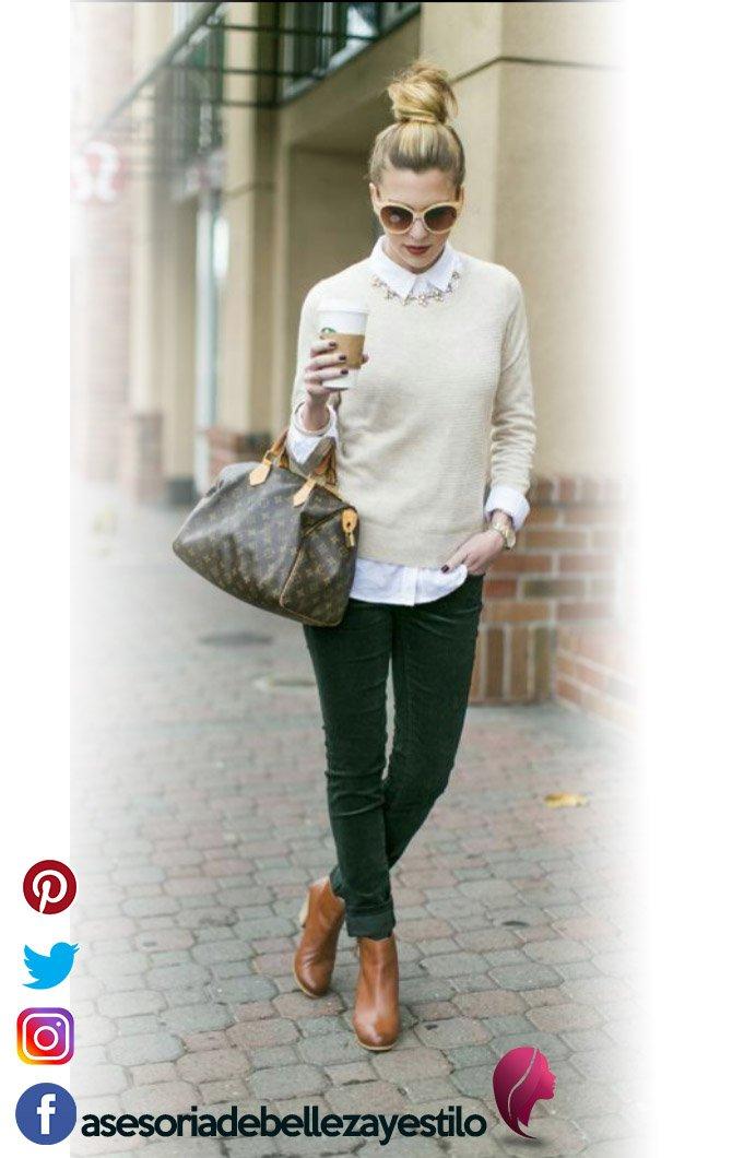 outfit elegante y casual con botines