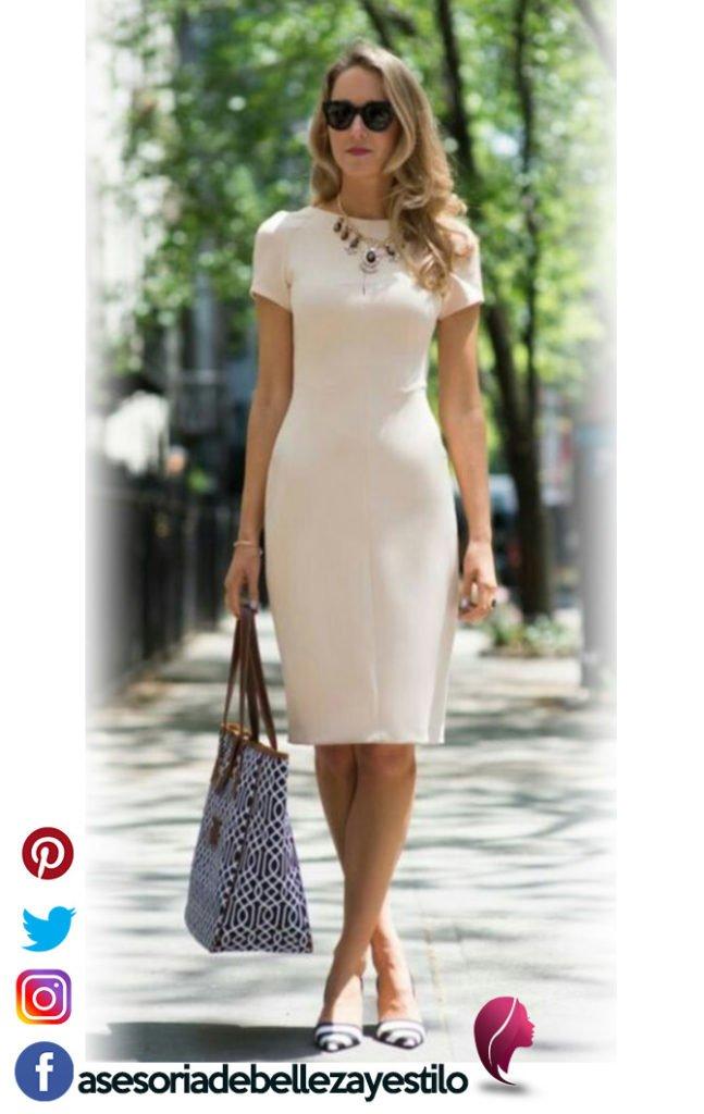 outfit con vestido casual pero elegante