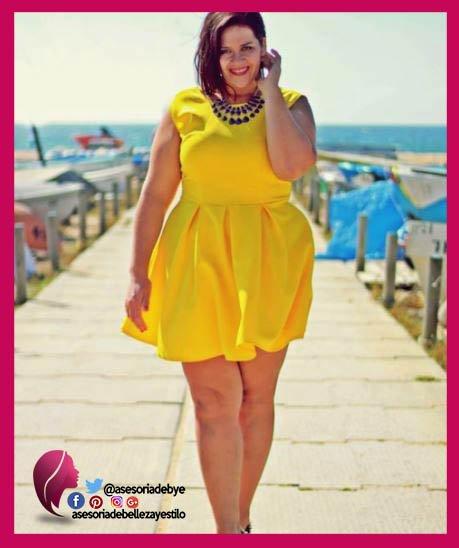 Vestido amarillo para gorditas