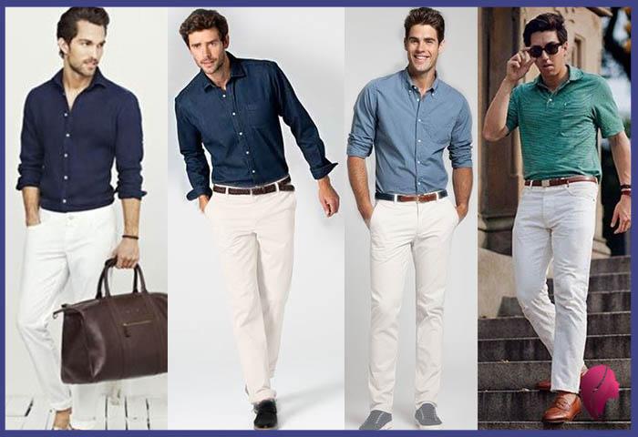 como combinar un pantalon blanco hombre juvenil