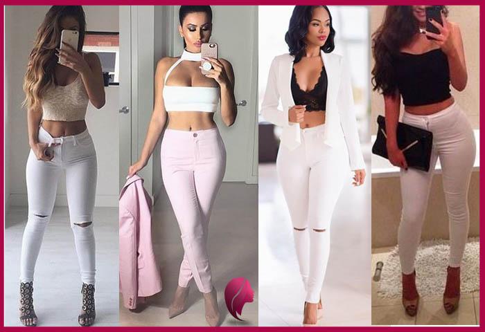 como combinar un pantalon blanco de mujer sexy