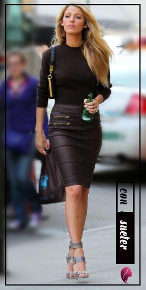 como combinar una falda negra de cuero tubo combine black skirt