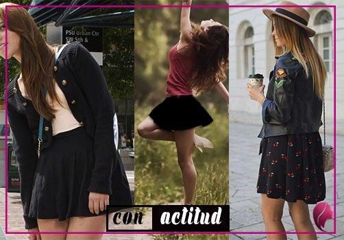 como combinar una falda negra circular combine outfit circular black skirt