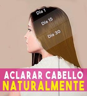 como aclarar el cabello naturalmente