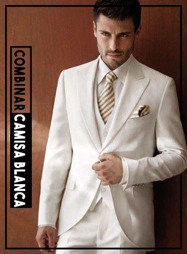cómo combinar una camisa blanca y corbata