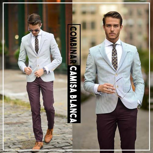 cómo combinar una camisa blanca blazer