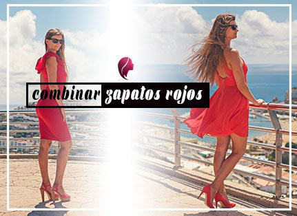 ¿Cómo combinar zapatos rojos? con vestido rojo