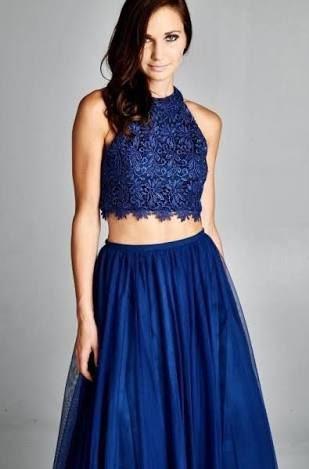 ¿como combinar una falda larga azul electrico? combine outfit long blue skirt