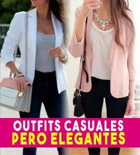 outfits elegantes y casuales moda para mujer