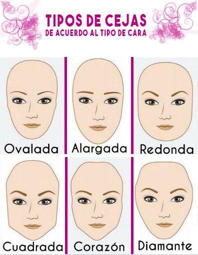 como pintar, delinear o depilar las cejas según tu tipo de rostro y tener cejas perfectas