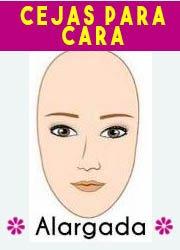 delinear o depilar cejas segun tu tipo de rostro, alargado