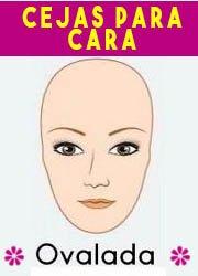 Depilar y delinear ceja para rostro ovalado
