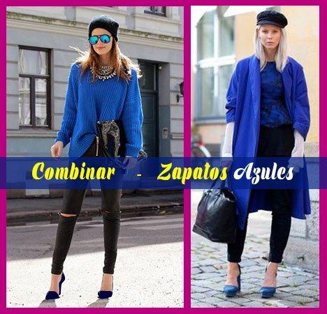 Cómo Combinar Zapatos Azules De Mujer Y Hombre Asiiiiii