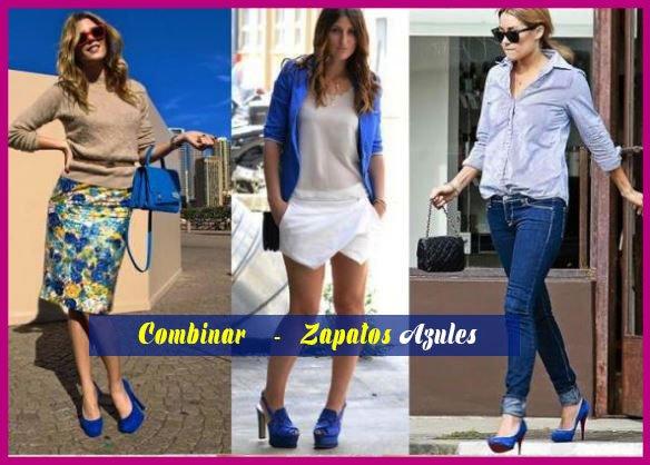 como combinar zapatos azules de mujer outfit casual asesoría de belleza y estilo