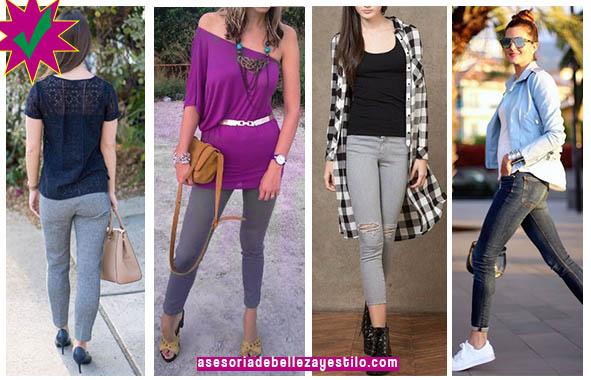 como combinar un pantalón gris con outfit casual