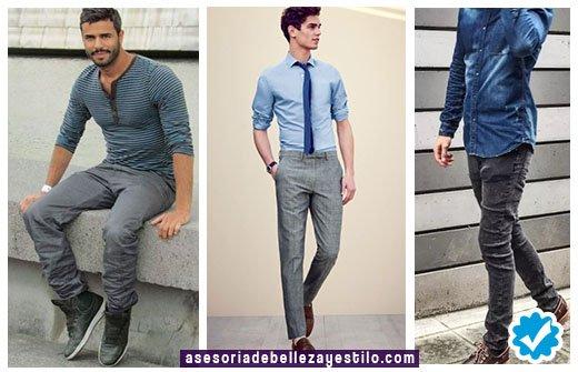 Pantalon Azul Claro Hombre Combinacion Casual 1 Jersey Hombre