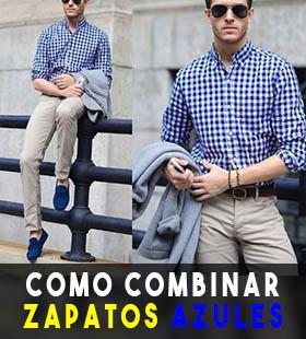 moda hombre como combinar zapatos azules