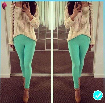 Como combinar un pantalón turquesa Mujer y Hombre 1