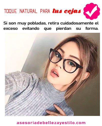 maquillaje para chicas con lentes cejas
